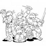 Imágenes de las Tortugas Ninja para colorear