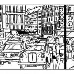Dibujos de ciudades para imprimir y colorear