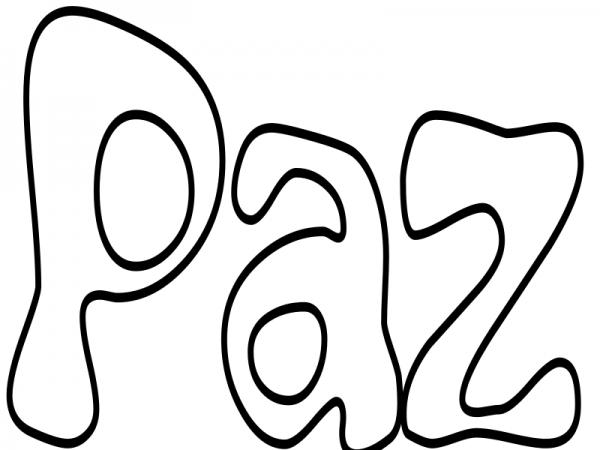 Día De La Paz Galería De Dibujos Y Carteles Niños Del: Carteles Con La Palabra Paz Para Colorear