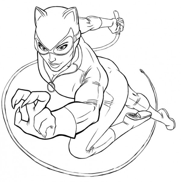 Imgenes de Catwoman Gatbela para pintar  Colorear imgenes