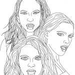 Fotos de vampiros animados para colorear