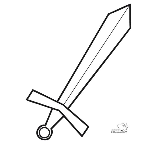 Imgenes de espadas para pintar  Colorear imgenes