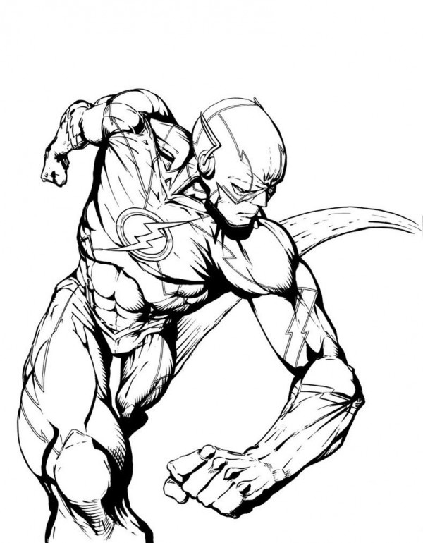 flash coloring pages marvel - photo#16