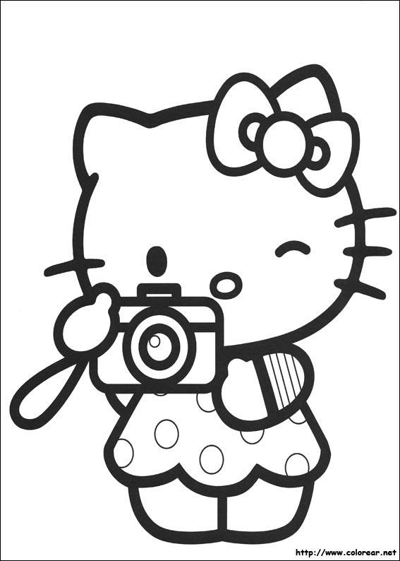 Fotos de Hello Kitty para colorear  Colorear imgenes