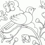 Paisajes de primavera – Dibujos para pintar