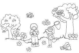 Paisajes De Primavera Dibujos Para Pintar