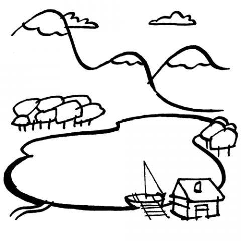 paisajes con lago