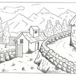Bonitos paisajes para imprimir y colorear