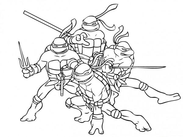 dibujos para colorear de las tortugas ninja haz click. equipo de las ...