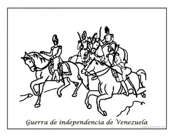 Dibujos del Da de la Independencia de Venezuela para pintar