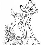 Imágenes dulces de Bambi de Walt Disney para pintar