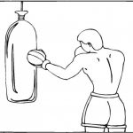 Imágenes de boxeo para colorear: Boxeadores peleando para pintar