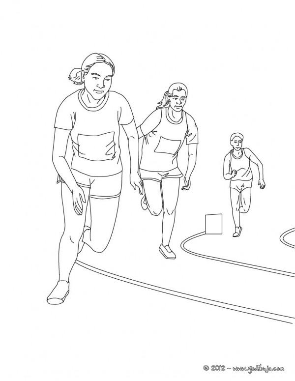 Imágenes para pintar de atletismo | Colorear imágenes