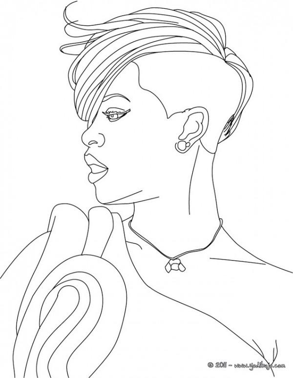 Kleurplaat Justjn Bieber Caricaturas De Rihanna Para Pintar Colorear Im 225 Genes