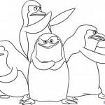Imágenes para pintar de los pinguinos de Madagascar