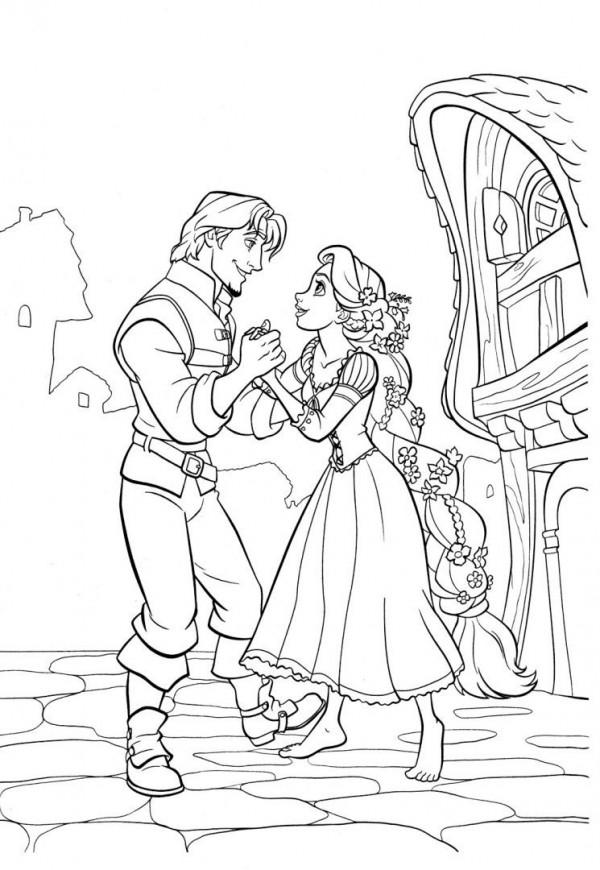 Imágenes para pintar de Rapunzel | Colorear imágenes