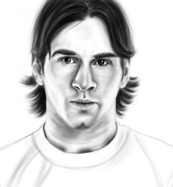 Dibujos de jugadores de ftbol famosos para pintar Messi