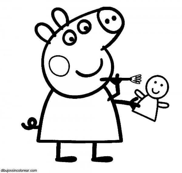 Im genes para pintar de la cerdita peppa pig y su familia - Dibujos para pintar en la pared ...