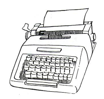 Im genes de maquinas para escribir para colorear - Maquina de pintar electrica ...