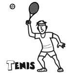 Imágenes de tenis para colorear: Tenistas para pintar