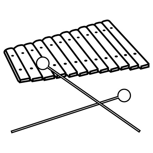 X Is For Xylophone Coloring Page Instrumentos musicales...