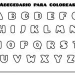 Pintando las letras del abecedario