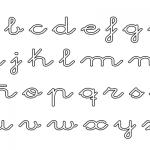 Abecedarios de letras cursivas para imprimir y colorear