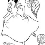 Dibujos de Blancanieves para colorear