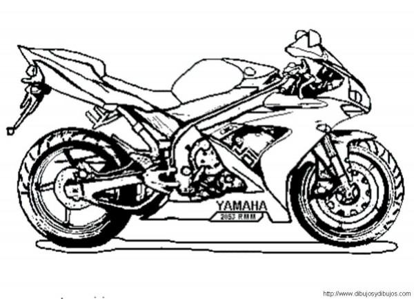 Dibujos para pintar motos dibujos para pintar for Disenos de motos