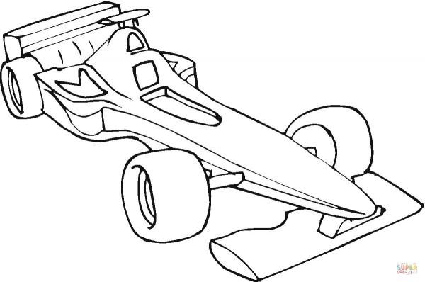 Dibujos De Autos De Carrera Para Colorear