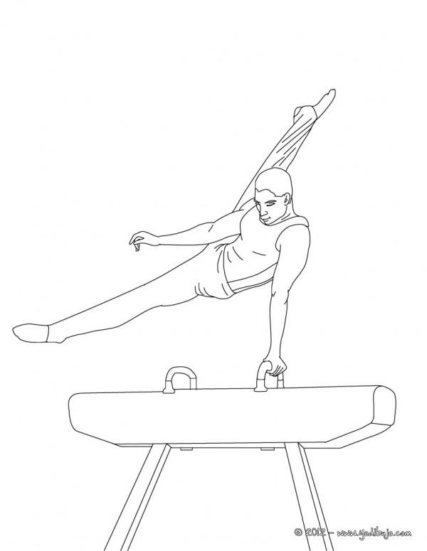 Im genes de gimnasia art stica para colorear colorear im genes - Dessin gymnaste ...