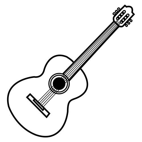 Imgenes de guitarras para colorear  Colorear imgenes