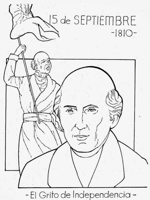 16 de septiembre dibujos de la independencia de m xico for Mexican independence day coloring pages