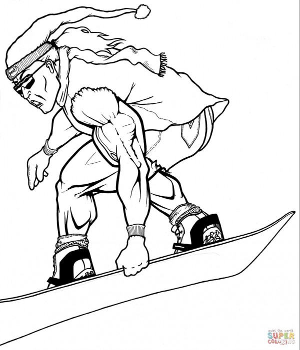 muscular-snowboarder-coloring-page