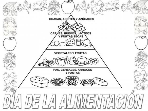 Laminas De Atracciones De Feria Para Pintar: Dibujos Del Día Mundial De La Alimentación Para Pintar