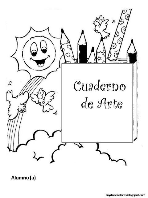 Dibujos Para Colorear De Caratulas Escolares Imagui