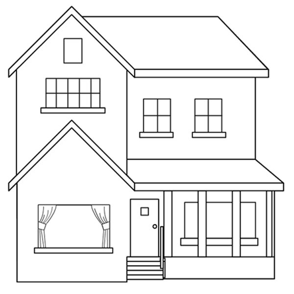 Dibujos de casas para imprimir y colorear colorear im genes for Pintar en casa
