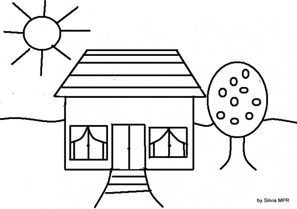 Dibujos De Casas Para Colorear Para Ninos: Dibujos De Casas Para Imprimir Y Colorear