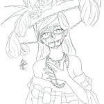 """Dibujos del símbolo más popular del Día de los Muertos en México. """"La Catrina"""""""