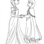 Dibujos de las princesas Anna y Elsa Frozen para imprimir y colorear