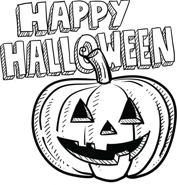 Dibujos de happy halloween para imprimir y pintar - Calabaza halloween para colorear ...