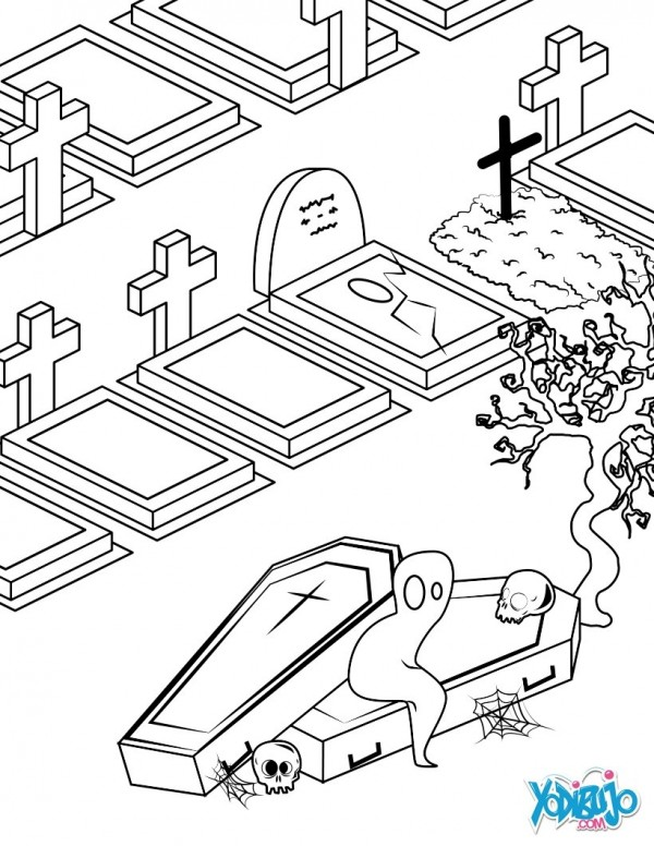 Terrorficos dibujos de Halloween para colorear  Colorear imgenes