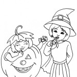 Brujas de Halloween – Dibujos para imprimir y colorear