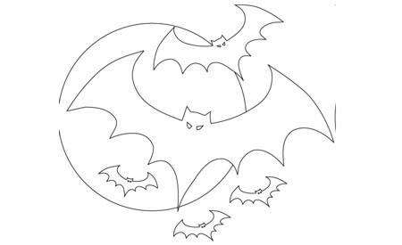 Pintando dibujos de murci lagos para festejar halloween - Murcielagos halloween para imprimir ...