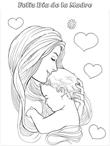 Dibujos de Felicidades Mam para colorear y dedicar en el Da de