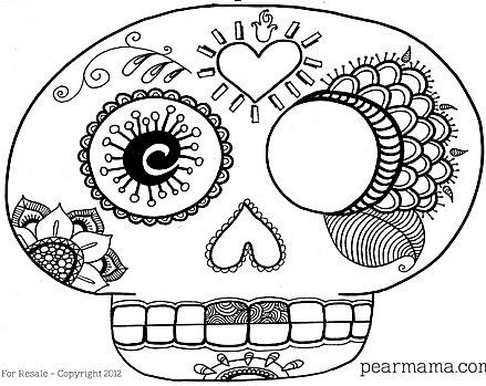 Dibujos De Calaveras Mexicanas Para Colorear En Halloween