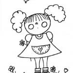 11 de octubre – Día Internacional de la Niña – Dibujos para colorear