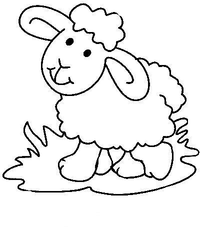 dibujos de ovejas para colorear colorear imgenes