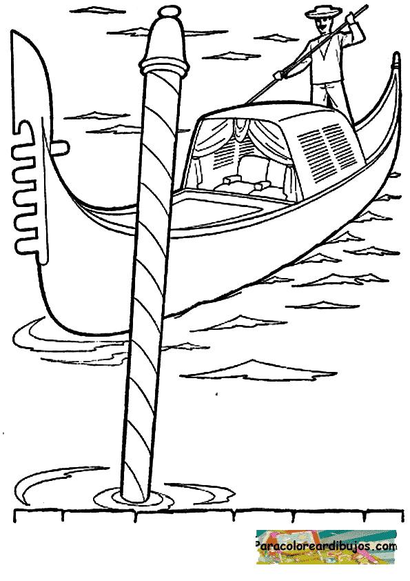 G 243 Ndolas Y Gondoleros De Venecia Para Pintar Colorear