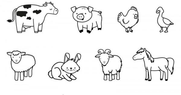 Dibujos infantiles de animales para descargar imprimir - Animale domestico da colorare pagine gratis ...